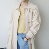 싱글 홑겹 트렌치 코트
