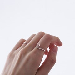 Flow ring (실버 물결 반지) [92.5 silver]