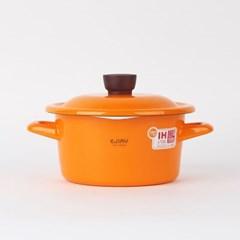 재팬 에지리 글래이지팟 법랑냄비 16 양수냄비 (오렌지)