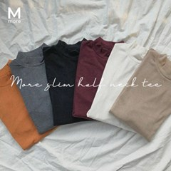 [MADE] 슬림 하프넥 티 (6color)