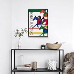 유니크 인테리어 디자인 포스터 M 홀스레이싱