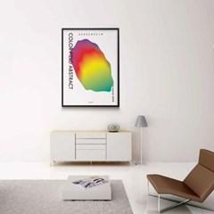 유니크 인테리어 디자인 포스터 M 색면추상