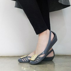 kami et muse Gold pendent jelly wedge shoes_KM18s144