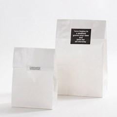 화이트 무지 종이봉투(M/20매)