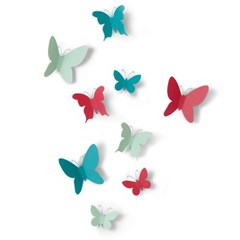 [Umbra] Mariposa-Asst-9 월데코 나비 벽장식