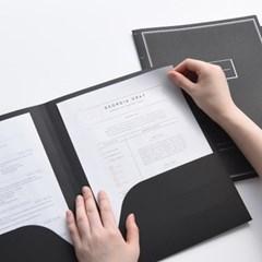 블랙&크라프트 A4 파일 홀더