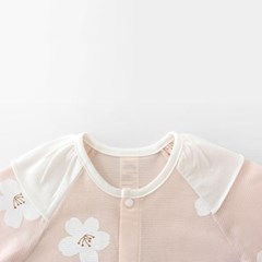 [메르베] 벚꽃엔딩 신생아 우주복/북유럽아기옷_여름용(_(1019942)