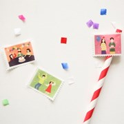Masking tape : stamp - 10 Party