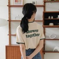 [치즈달] 'shower' 테이핑 티셔츠
