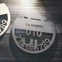 고급 주차번호판 부속품-받침대 주차알림판
