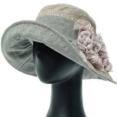 [더그레이]DKU24.쉬폰리본 아일렛 여성 플로피햇 모자