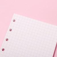 [루카랩] 미니 6공 리필 퍼플 모눈 노트