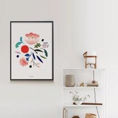 인테리어 디자인 포스터 M 보태니컬5 식물포스터 봄꽃
