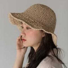 natural straw bucket hat