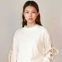Lace Slit Sweatshirt_White
