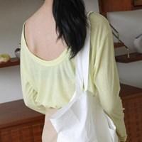 [치즈달] 라운디 컷 네온 티셔츠