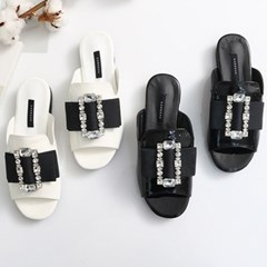 kami et muse Square cubic pendent slippers_KM18s161