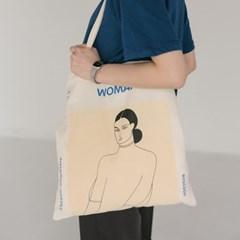 woman drawing eco bag
