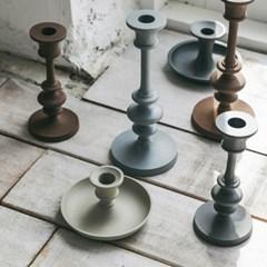 [모노뜨] 알루미늄 촛대 17cm (그레이)