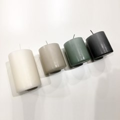 [IB LAURSEN] 무향 필러캔들 - 4 컬러, 2 사이즈 (원기둥 양초)
