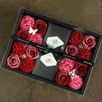 로제 카네이션 꽃 용돈박스