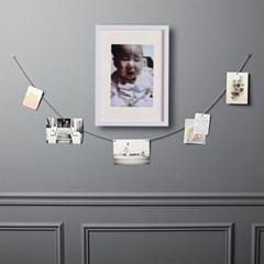화이트-A4 매트 홈갤러리 벽걸이 액자