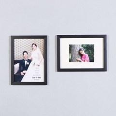 블랙-5x7 매트 홈갤러리 벽걸이 액자
