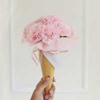 비누카네이션 아이스크림콘 꽃다발 [3color]_(575805)