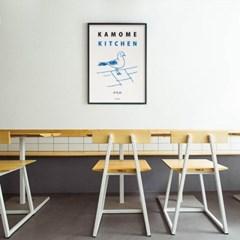 일본 유니크 인테리어 디자인 포스터 M 카모메키친 드로잉 일본소품