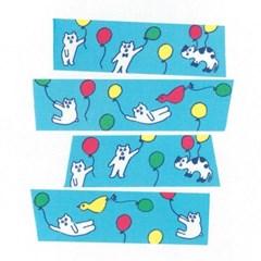 [AIUEO] Masking tape - Kuma balloon