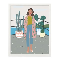 마리의 베란다 일러스트 포스터 (액자판매)