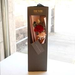 카네이션 한송이 꽃다발-프리저브드