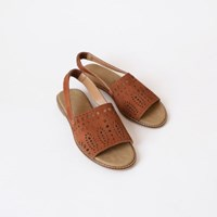 Ethnic sling back sandals