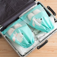 귀여운 여행용 신발 PVC 파우치