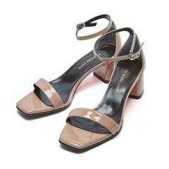modern square sandal pinkbeige_5cm (소가죽)