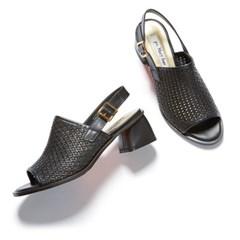 weaving sandal black_5cm (소가죽)
