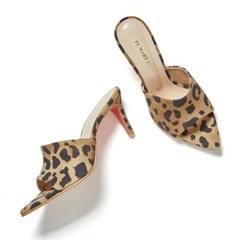 edge point mule leopard beige-7cm (양가죽)