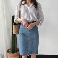 Daily vintage denim skirt