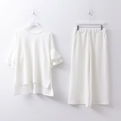 [Set] Frill Top + Easy Pants