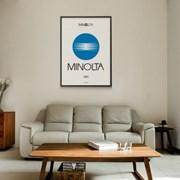 일본 유니크 인테리어 디자인 포스터 M 미놀타 일본소품