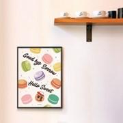 유니크 인테리어 디자인 포스터 M 잘가슬픔,안녕스윗 마카롱