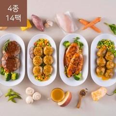 가벼운 칼로리 포켓도시락 1일2식 고단백질 세트(4종 14팩(1주일))