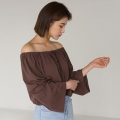 2-way shirring ribbon blouse