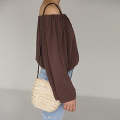 straw mini basket bag