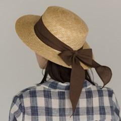 romantic ribbon boater hat