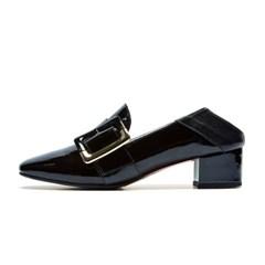 Buckle loafer black_4cm (소가죽+양가죽)