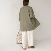 big pocket loose linen jacket
