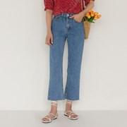 slim boots-cut 8-length denim pants