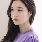 제이로렌 M02567 컬러리본 오버사이즈 링귀걸이_(659118)