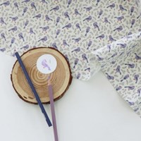 [Fabric] The Lavender Bird Pattern Linen (라벤더 버드)